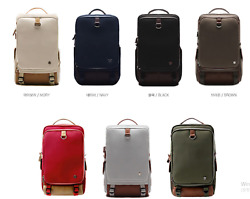 Inno-arc Hard Canvas Backpack 7 Color Variation With Free Gift