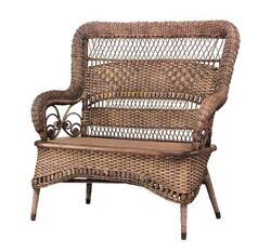 19th Century American Victorian Natural Wicker Loveseat By Larkin And Co.