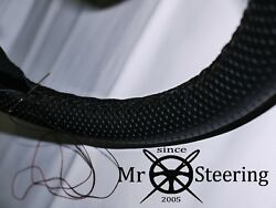 For Rover P4 1949-1964 Perforated Leather Steering Wheel Cover Double Stitching