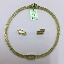 Vintage Signed Jewels by Trifari Necklace & Earrings Set