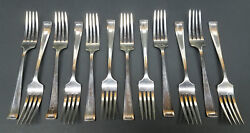Vintage Rwands Wallace Silversmiths 925 Sterling Silver Dinner Fork Set Of 12