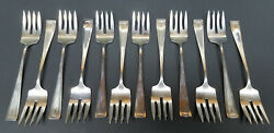 Vintage Rwands Wallace Silversmiths 925 Sterling Silver Luncheon Fork Set Of 12