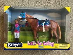 NEW Breyer Let's Go Riding Racing 1727 Rider Tack poster Traditional Model Horse