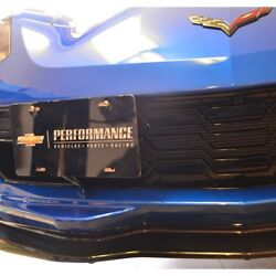 C7 Corvette 14l-15 License Plate Holder W/red Tow Hook W/o Front End Camera