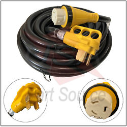 Rv Power Cord 50 Ft 50 Amp With Rain Proof Twist Lock Connector 50 Foot / 50amp