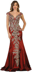 SALE! PROM EVENING SPECIAL OCCASION DRESS STRETCHY FITTED RED CARPET FORMAL GOWN $139.99