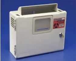 Sharps Needle Container Wall Mount Enclosure, Sharpsafety, Box Only, 85161h