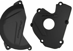 Polisport plastic Clutch & ignition cover protector Kawasaki KXF250 13- 16 Black