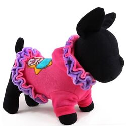 Pet Dog Clothes Winter Ice Cream Lace Dog Coat For Chihuahua Skirts Yorkshire