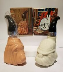 Vintage Avon Bloodhound & Bulldog Pipe Decanters (2) both FULL