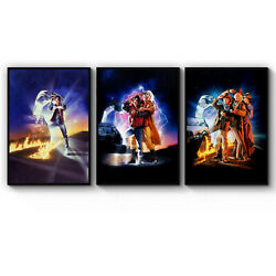Set of 3 'Back to the Future' Film Movie Posters Art Print - A3 A2 A1 A0 Framed