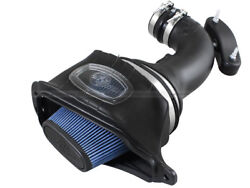 C7 Corvette 2014+ Sealed Cold Air Intake System Blue Washable Oiled Cotton Gauze