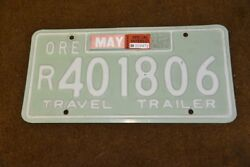 1960and039s Vintage Camp Trailer License Plate Canned Ham Airstream Shasta Teardrop