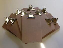 Small A5 Hardboard Clipboard 250x170mm With Strong Chrome Clip
