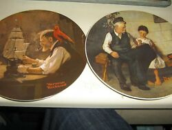 Lot Of 6 Norman Rockwell Plates Believe In The Mirror, Young Girls Dream Etc