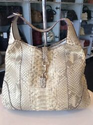 Gucci Gild Python Tote  Bag Shop N Pick Up  Our LA Store