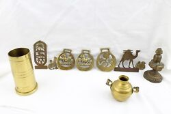Lot Of Vintage Assorted Brass Figurines Knick Knacks Decorations Paperweights