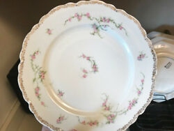 Vintage Oande.g Royal1900and039s White With Hand Painted Floral 61 Piece Tableware