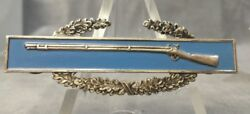 Army Combat Infantry Badge Sterling Clutch Back S-21