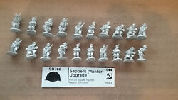 15mm Battlefront Miniatures  WWII Soviet Sappers Upgrade ( Winter )