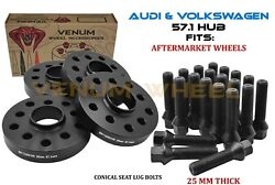 4pc Audi Volkswagen 25mm Hubcentric Wheel Spacers Fits A4 A5 A6 Jetta Gti Golf