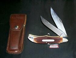 Schrade 25ot Knife And Sheath Old Timer 1970and039s Sfo Expressly Made For Hoffritz