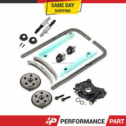Timing Chain Kit Cam Phaser Vct Selenoid Oil Pump For 05-10 Ford 4.6l Triton
