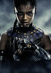 Black Panther Movie Letitia Wright as Shuri HQ Textless Poster 21×14 27×40 48×32