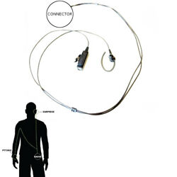 Impact M2-p2w-nc-eh4 Noise Cancelling 2-wire Ear Hook For Motorola Multi-pin