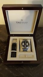 TAG HEUER GRAND CARRERA CALIBRE 17 RS CAV511A STAINLESS STEEL AND LEATHER BANDS