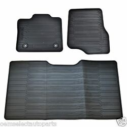 OEM NEW 2015 2020 Ford F 150 All Weather Crew Cab Floor Mat Kit BLACK Rubber