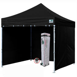 Waterproof Ez Pop Up Commercial Canopy 10x10 Patio Gazebo Tent W/ 4 Side Walls