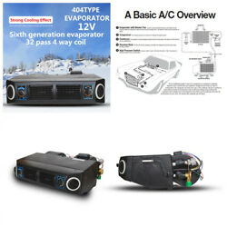 Car 12V 30W AC KIT 32 Pass Coil Underdash Evaporator Compressor Air Conditioner