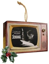 Retro Scrooge And Other Classic Television Vintage Look Wood Orn Free Us Shipping