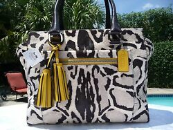 NWT COACH MADISON OCELOT LEOPARD HAIRCALF CANDACE CARRYALL SATCHEL BAG 21166 NEW