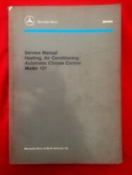 Mercedes Benz model 107 Heating, AC , Automatic Climate Control Service Manual