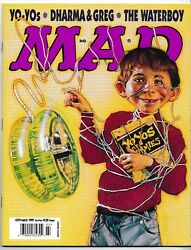 Mad Magazine 379 March 1999 Yo-yos Dharma And Greg Waterboy Mister Rogers New