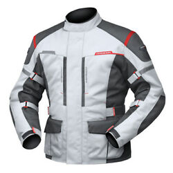 6XL Mens DriRider Summit Evo Touring Jacket Motorbike Waterproof Grey Black