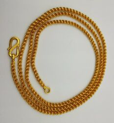 Certified 22k Gold Rope Chain Necklace 22 Inch Solid Gold Wedding Gift Unisex