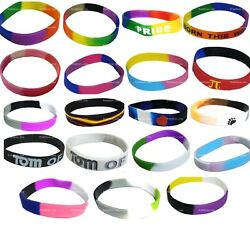 Lgbtq Gay Pride Silicone Bracelets Individual And Wholesale Lots Lgbt Glbt Queer