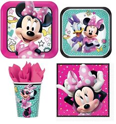 Minnie Mouse Party Express Pack For 8 Guests Cups Napkins And Plates