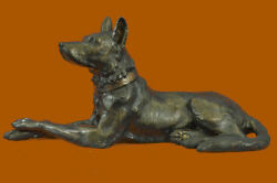 Large Life Size Basenji Dog African Breed Animal Pet Bronze Sculpture Figure DB