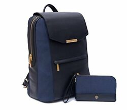 P.MAI Premium Valletta Leather Laptop Backpack for Women with Wristlet I 15