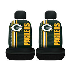 Green Bay Packers Football Low Back Seat Covers Universal For Cars Suvs - 4 Pc