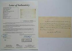James Madison Authentic Letter All In His Hand Signed J. Madison Dated W Jsa Coa