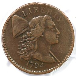 1794 S-65 Pcgs Vf 30 Head Of 94 Liberty Cap Large Cent Coin 1c