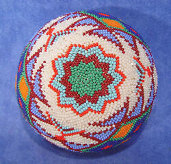 Paiute Coiled Willow /beaded Basket C1900-1950 Ex Nv Ranch Coll. 4 1/8 X 2 3/8