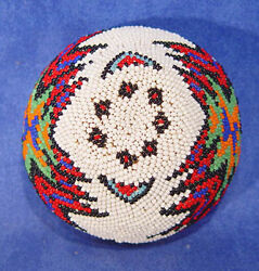 Paiute Coiled Willow / Beaded Basket C1900-1950 Ex Nevada Ranch Collection Mint
