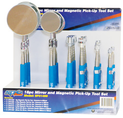 SP Tools pick-up tool display set mirror & magnetic -18Pieces SP31499