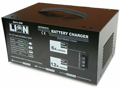 Lion Battery Charger Trade Series Fully Automatic 12 Volt 6 Amp And 12 Amp